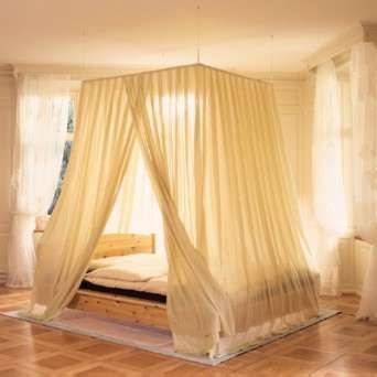 curtains around bed, princess much?