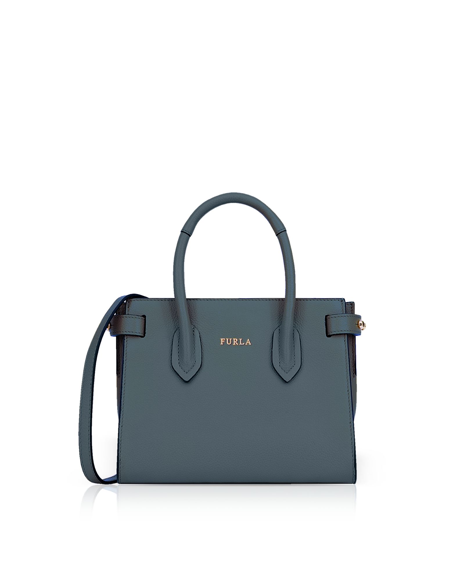 54d73f8c2f1 FURLA PIN MINI TOTE BAG W SHOULDER STRAP.  furla  bags  shoulder bags  hand  bags  leather  tote