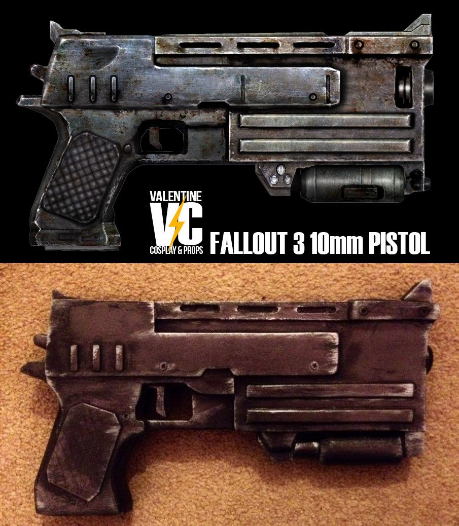 I finished my Fallout 3 10mm Pistol build  About 8 hours work  I'm