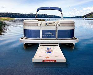An Open Sand Bar Table In The Water Pontoon Pontoon