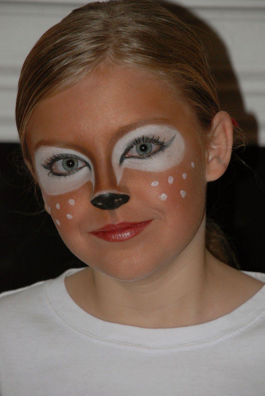 deer makeup 2 karneval helau pinterest kinderschminken fasching schminken und kost m. Black Bedroom Furniture Sets. Home Design Ideas