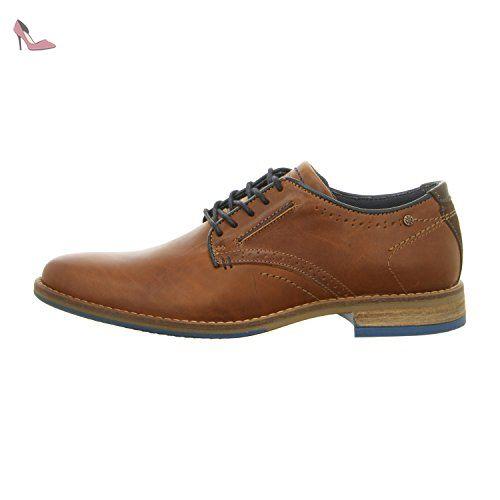 BULLBOXER 615k25462cpnbr - Zapatos de cordones de Piel Lisa para hombre, color marrón, talla 45 EU