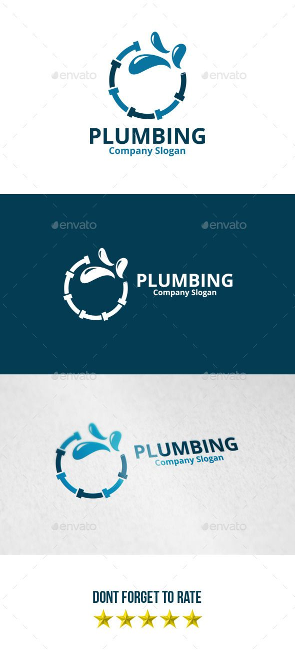 Plumbing Logo | Logos, Logo templates and Vector format