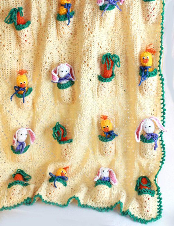Pocket Pals Afghan Crochet Pattern PDF   Pinterest   Häkeldecke ...