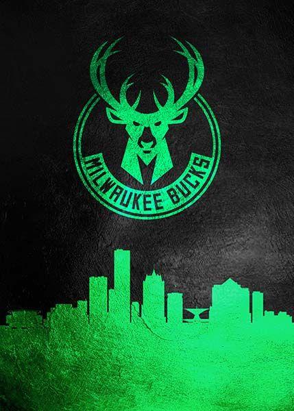 Milwaukee Bucks Skyline Milwaukee Bucks Nba Wallpapers Basketball Wallpaper