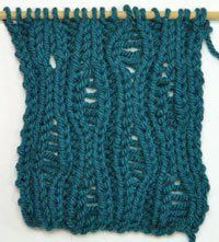 Fancy Stitches for Special Yarn | Knitting daily, Lace ...