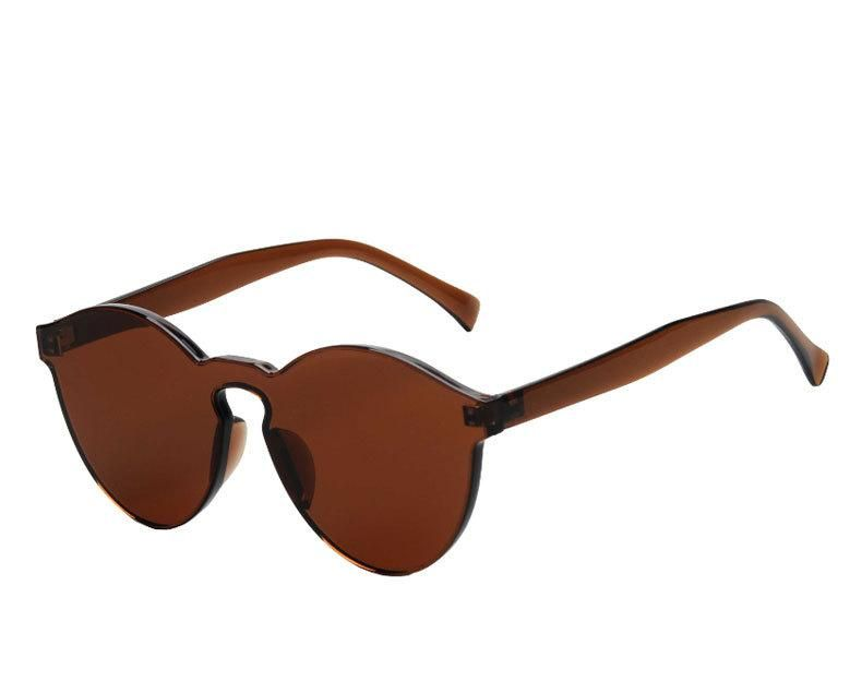 58f8d937c4b9 2018 new jelly color rimless sunglasses male and female candy colored  sunglasses one-piece plastic colorful glasses Eye-wear Type:  SunglassesLenses Optical ...
