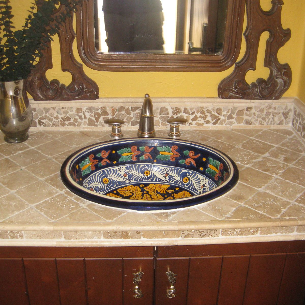 Mexican Tile Sinks For Bathrooms Primitive Bathrooms Mexican