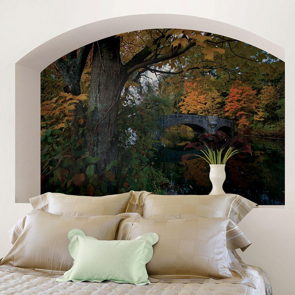 National Geographic 48 In H X 72 In W Fall Foliage Wall Mural Ng1314 The Home Depot Landscape Wall Decor Wall Murals Mural