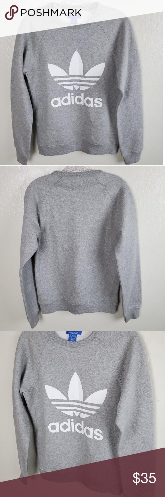 Adidas Original Trefoil Crewneck Sweatshirt Xs Crew Neck Sweatshirt Sweatshirts Adidas Sweater [ 1740 x 580 Pixel ]