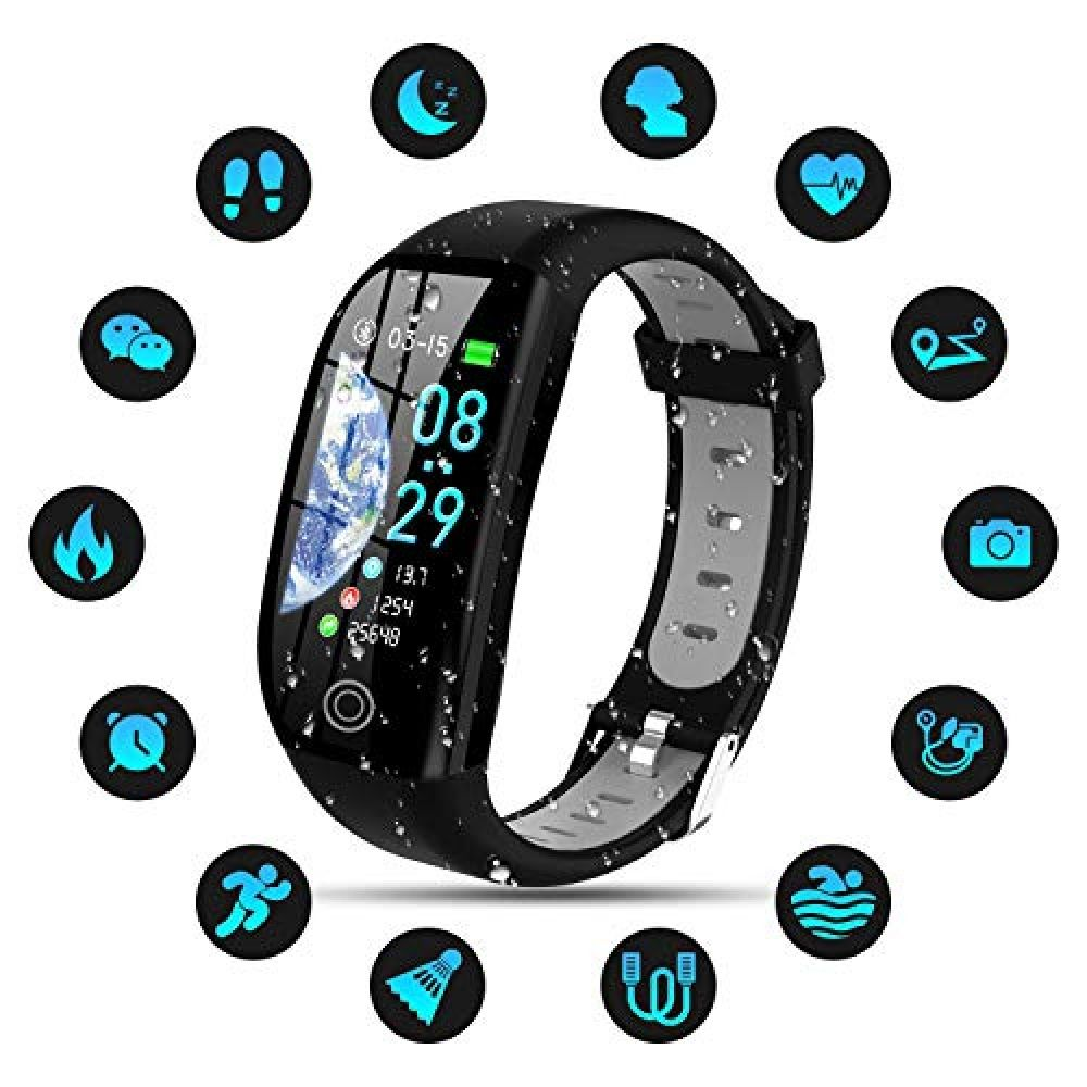 Tipmant Fitness Trackers Ip68 Waterproof Activity Tracker With 1 14 Inch Hd Screen Heart Rate Kids Fitness Tracker Fitness Tracker Waterproof Activity Tracker