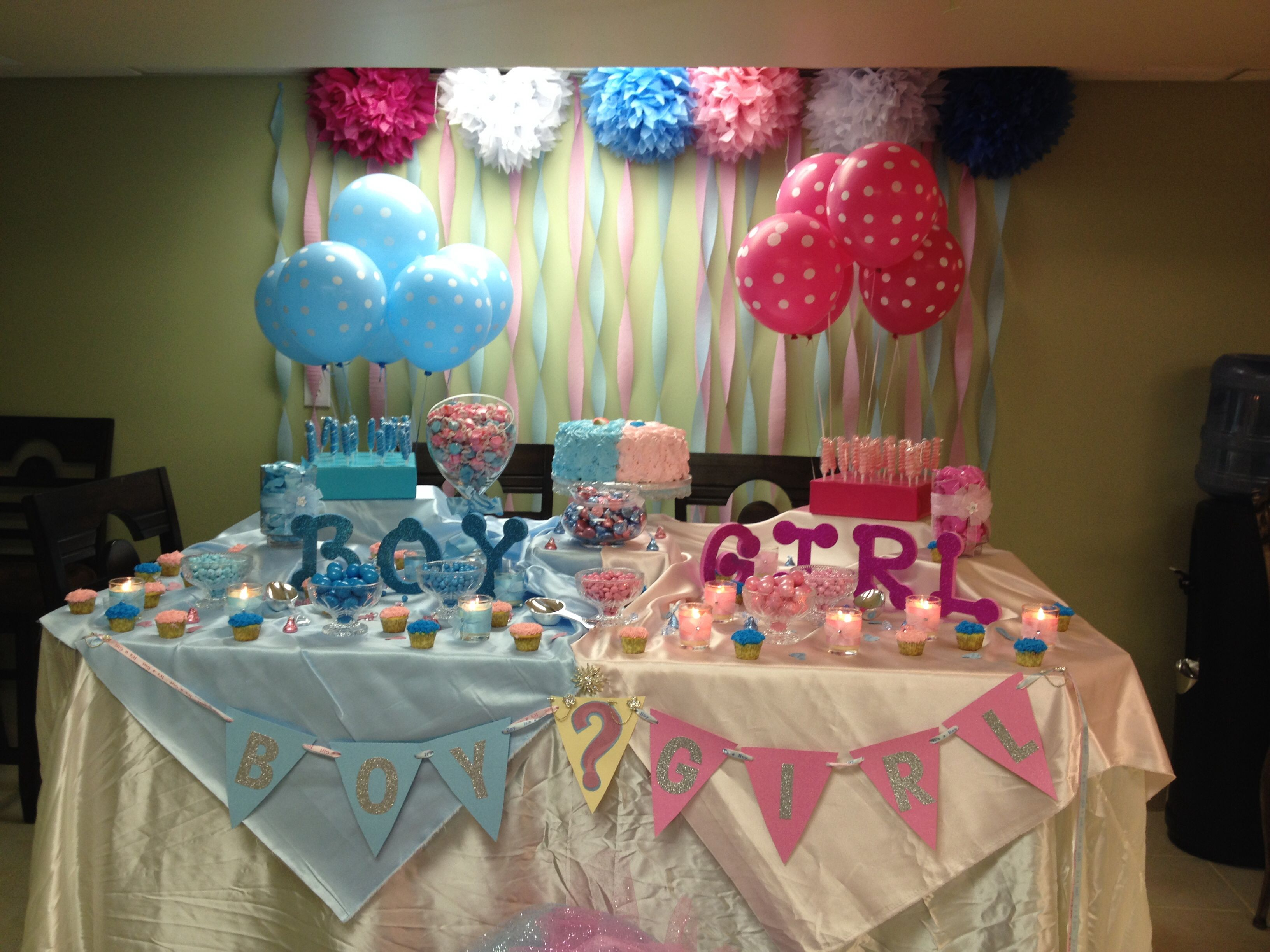 Candy Table Gender Reveal Baby Gender Reveal Party