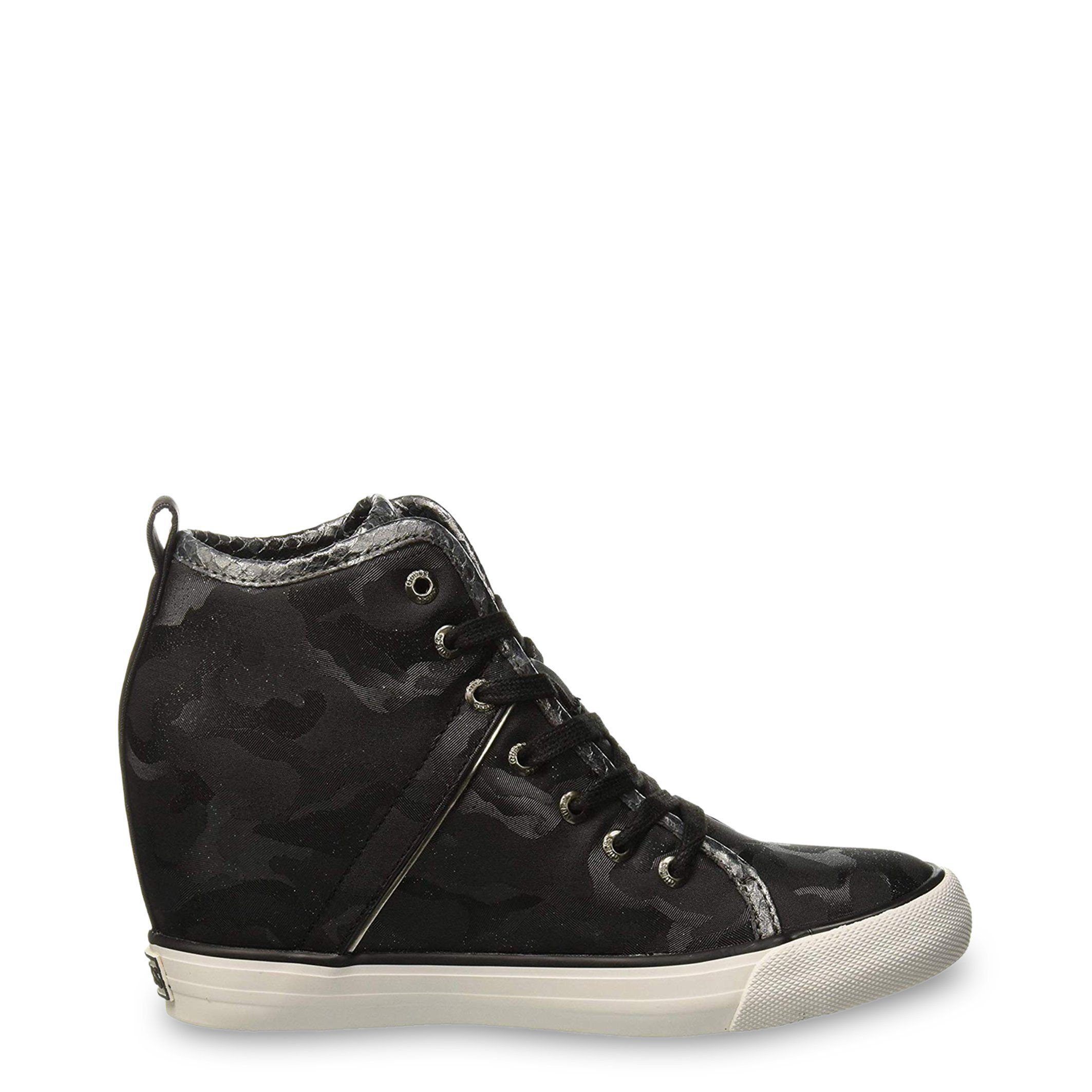 b059dad8fdd Guess Wedge Sneakers In Camo Black - Blowout Clearance - FLJLY3FAB12 ...