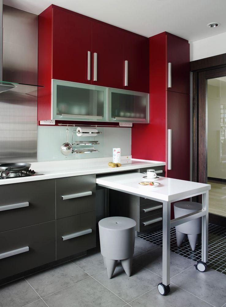 Aranzacje Wnetrz Czerwona Kuchnia Nadal Modna Kitchen Furniture Design Red Kitchen Cabinets Kitchen Design