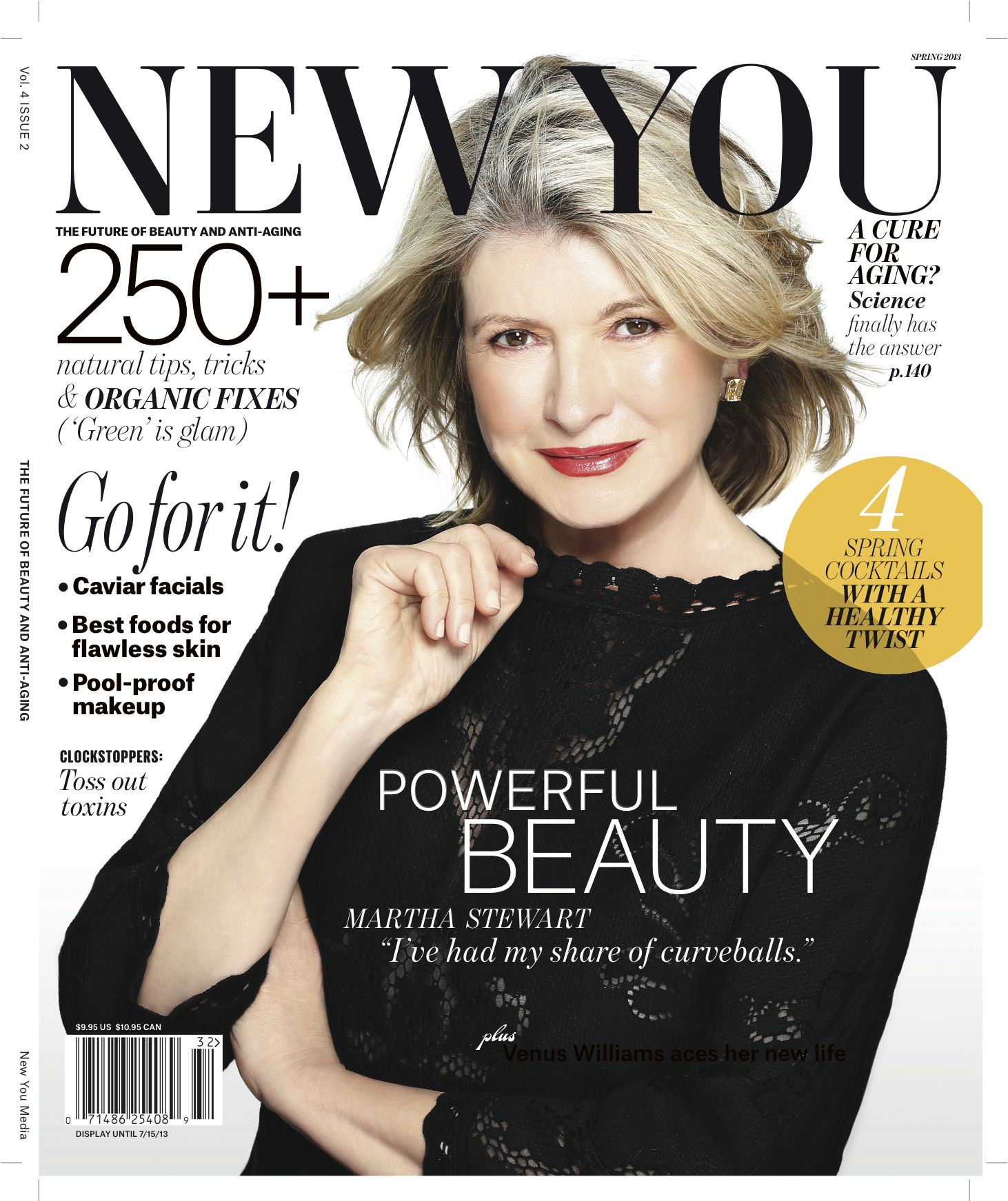 Our latest spring issue features the stunning 71-year old mogul, #MarthaStewart ! #natural issue #beautytips The latest on #lasers. Visit newyou.com to find out where to buy!
