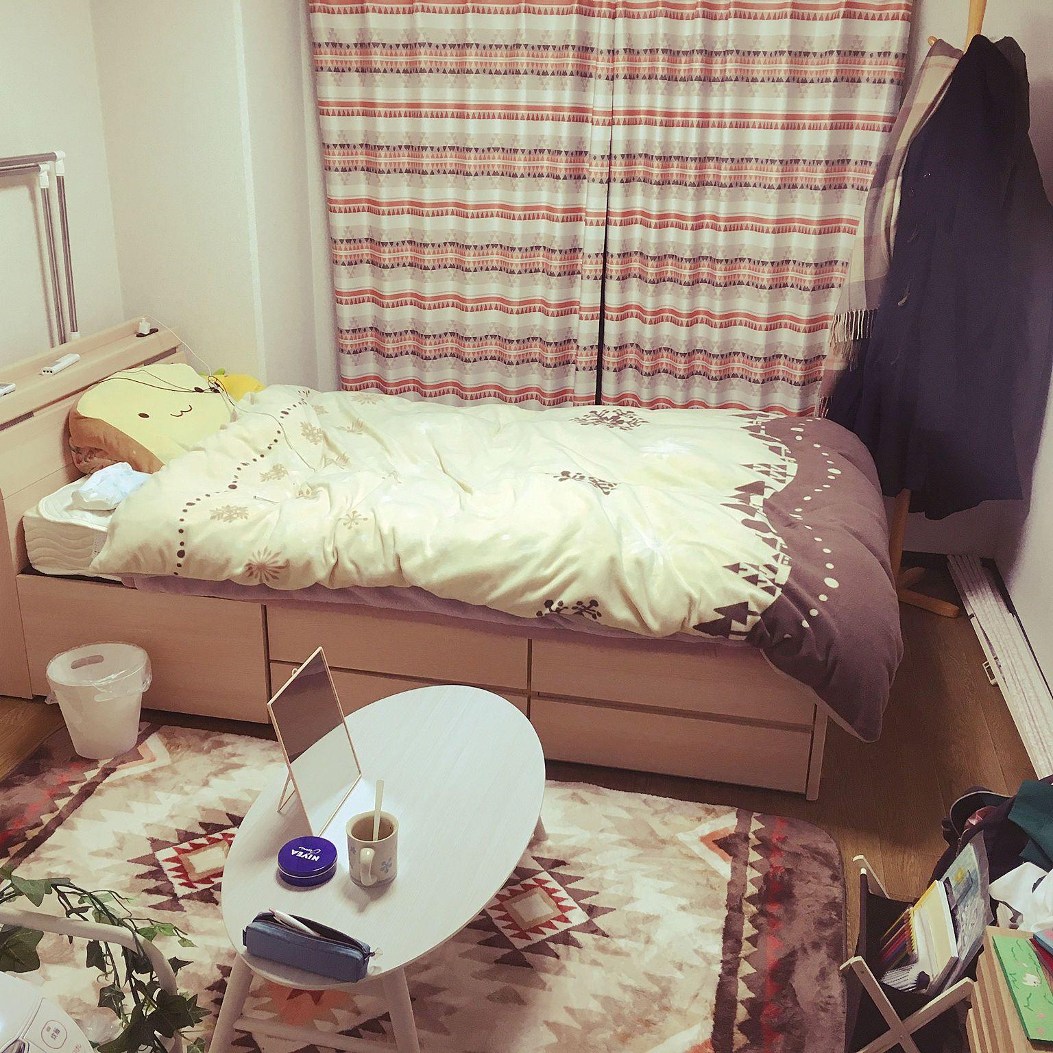 6畳インテリア実例 ベッドやソファを置けるレイアウトとは 6畳 インテリア インテリア 実例 インテリア