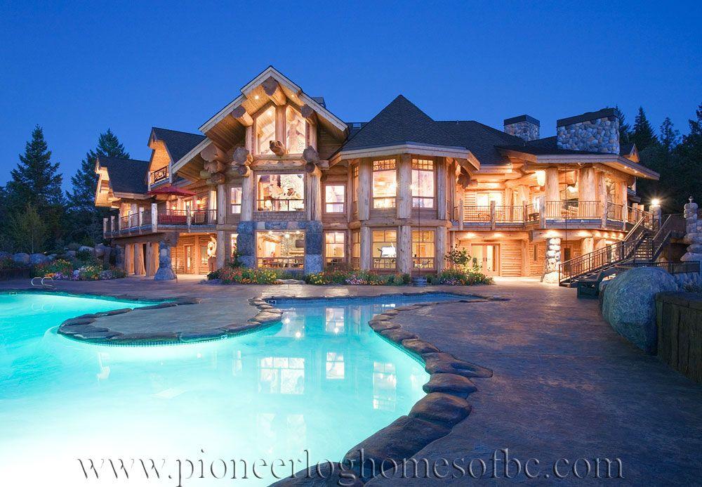 custom log homes grants pass - Luxury Mountain Log Home Plans