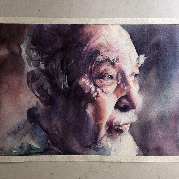 Quarta-feira, #aquarela #watercolor inspirada em #EdwardHopper. Workshop em SP, dias 1 e 2 de outubro: contato@pleinairstudio.com.br.