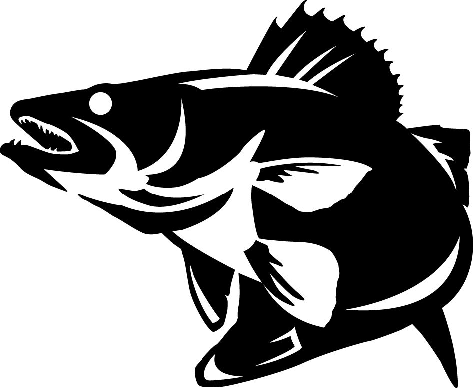 walleye striking wall decal laser cutting pinterest rh pinterest com walleye clipart black and white walleye clipart black and white