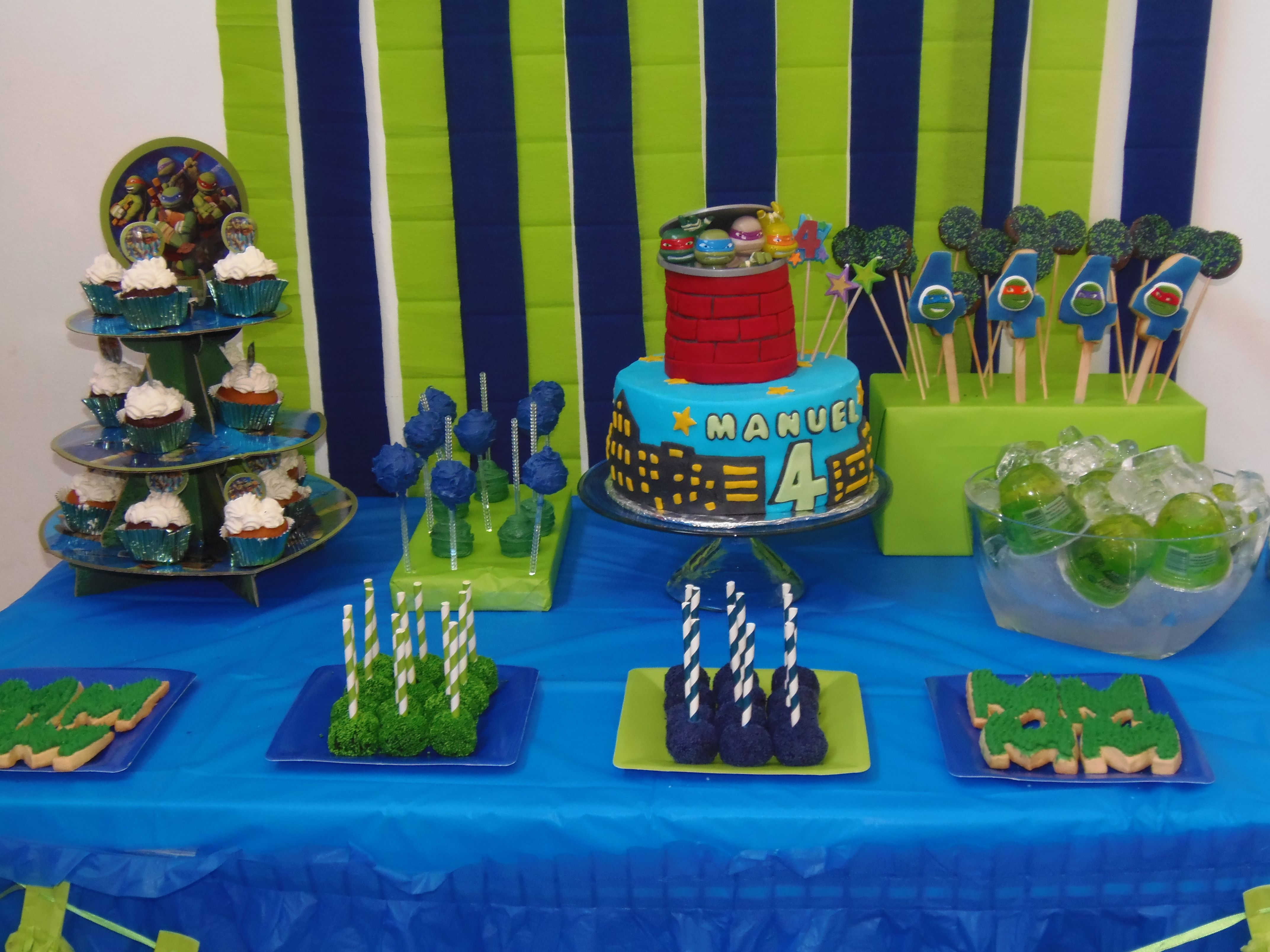 Tmnt Party Dessert Table Candy Bar Tmnt Boys Party Tmnt Birthday Teenage Mutant Ninja Turtles Party Tmnt Party