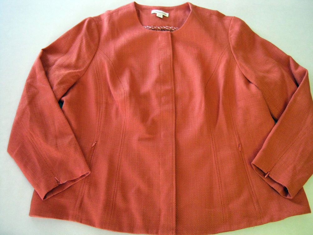 Womens Jacket 20/22 Coldwater Creek Orange Career CLEARANCE SALE NEW #ColdwaterCreek #MetropolitanShapedJacket