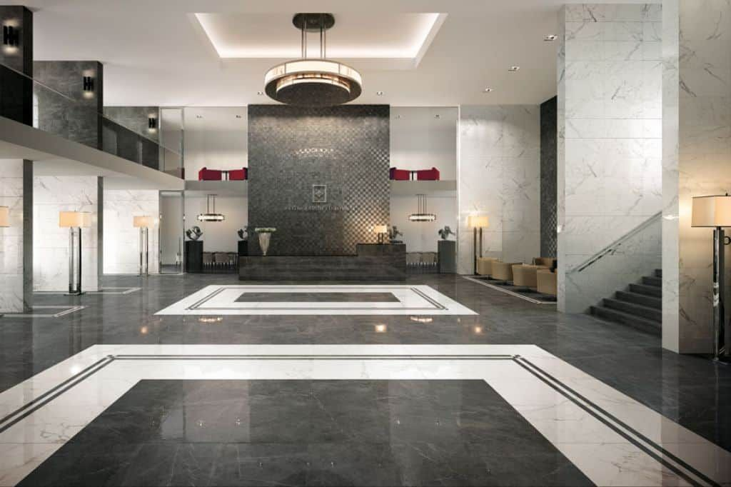Spacious luxurious and inspiring hotel lobby entrance for Hotel entrance decor