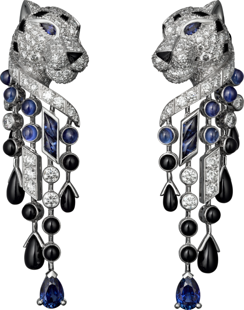 11127a4a6332 Panthère de Cartier earrings Platinum