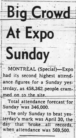Expo 67 - News Item 1