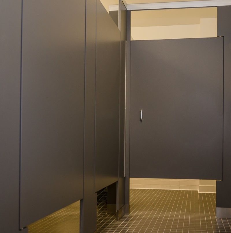 Bathroom doors & Ironwood Manufacturing zero sightline privacy toilet partitions ... pezcame.com