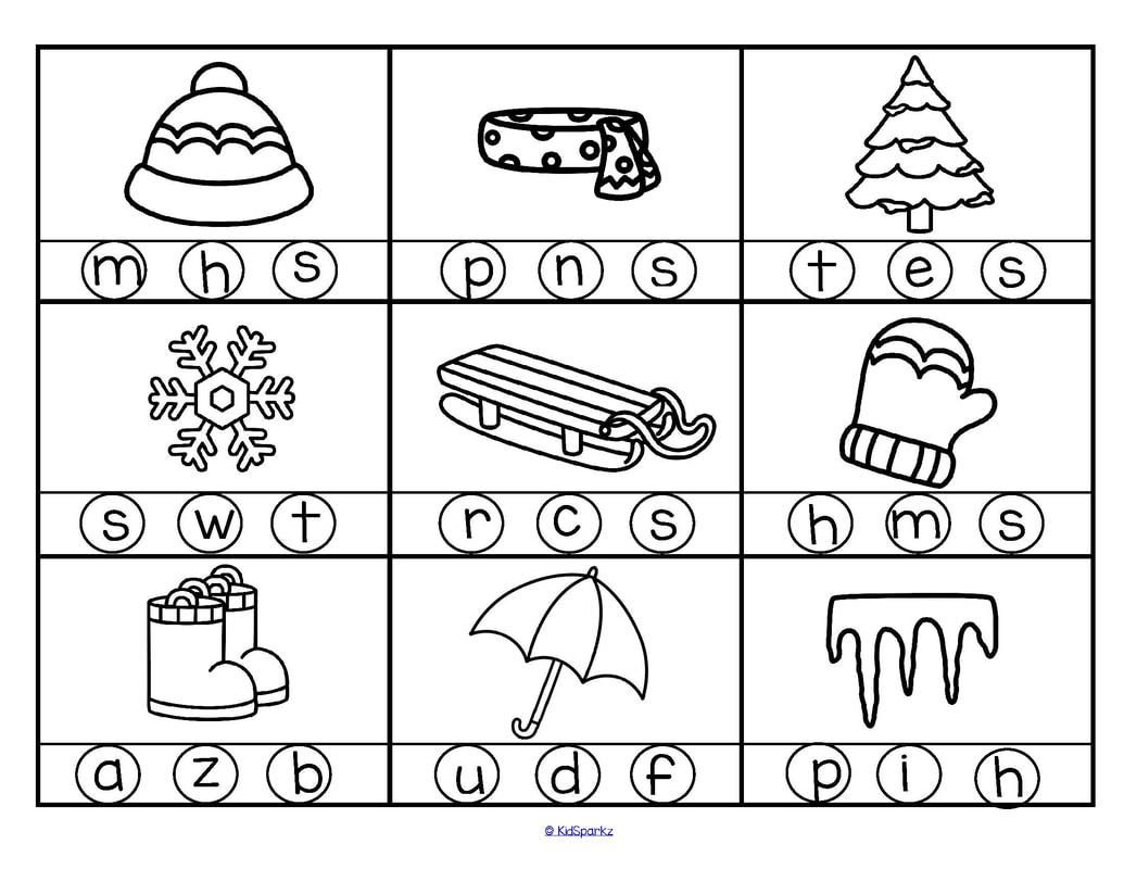Circle The Correct Letter Worksheets For Kindergarten