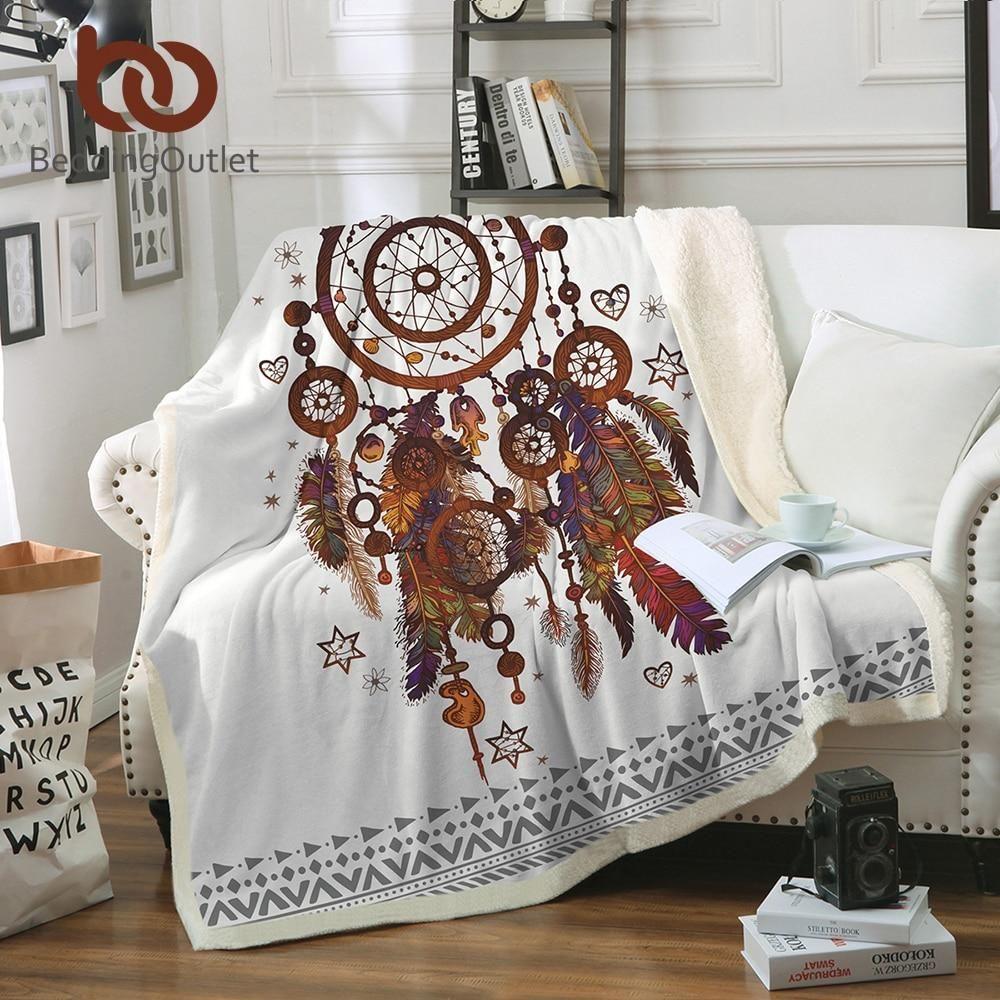 Beddingoutlet velvet plush throw blanket hipster