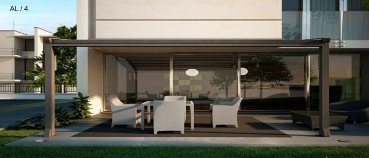 Estupendo dise o de porche moderno porches jardin y - Porches de casas modernas ...