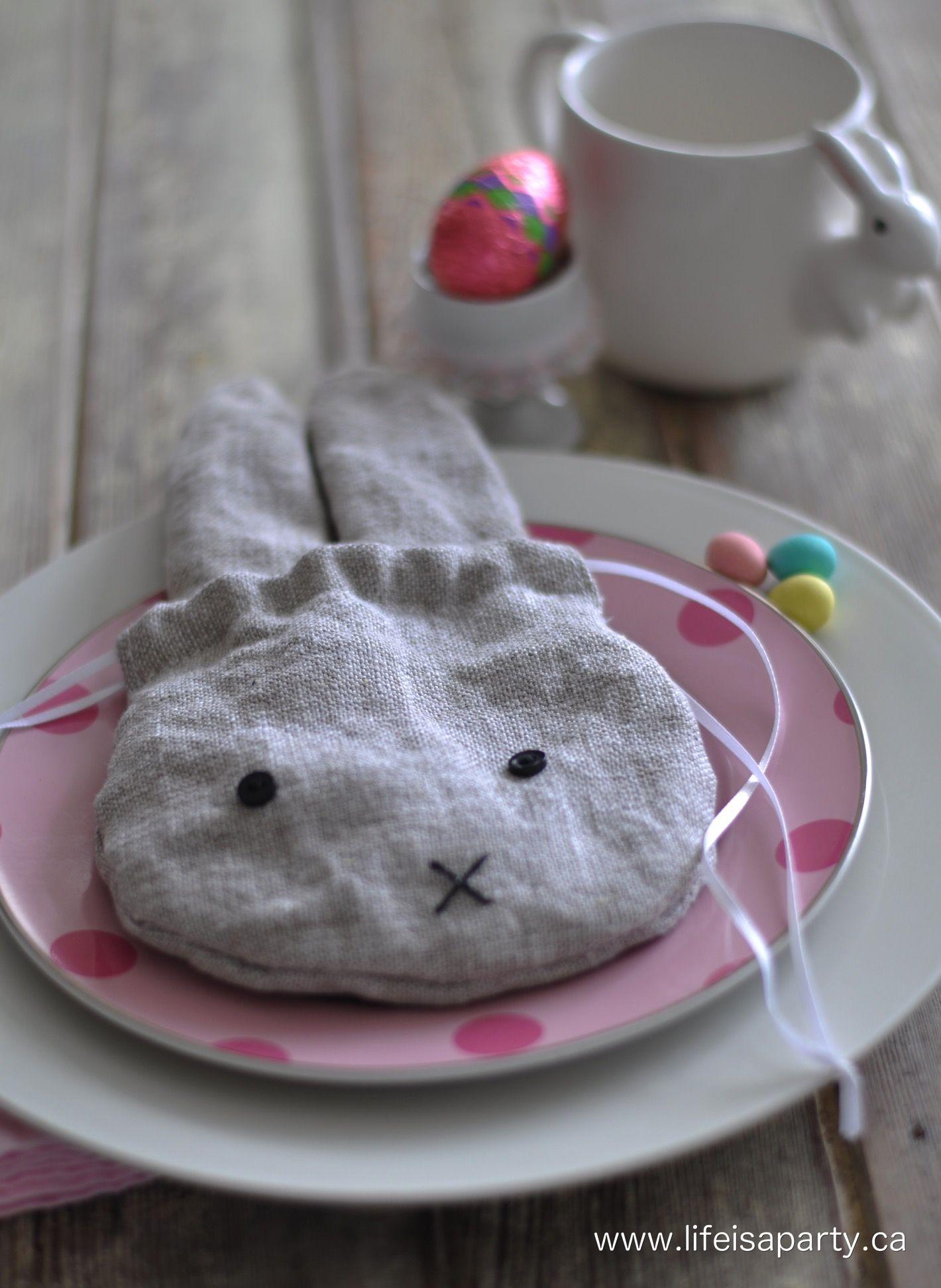 Linen easter bunny drawstring treat bag quick to sew includes a linen easter bunny drawstring treat bag quick to sew includes a free pattern and negle Choice Image