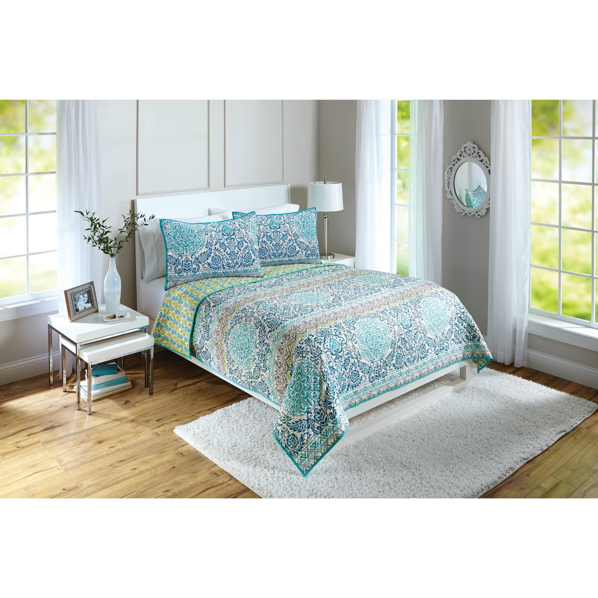Better Homes And Gardens Layered Medallion Quilt Walmart Com Home New Room Bedroom Inspiration Boho