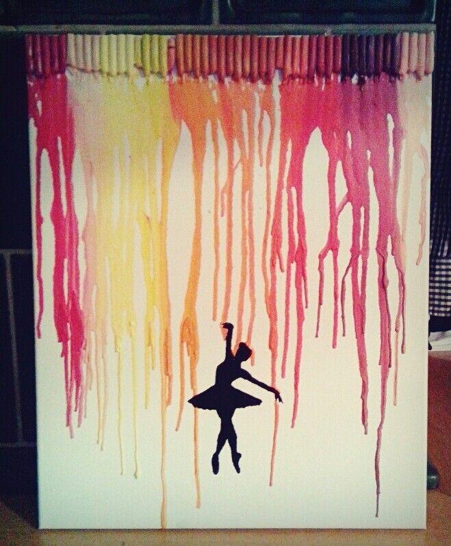 Diy ballerina bild wachsmalstifte schmelzen diy - Wachsmalstifte bilder ideen ...