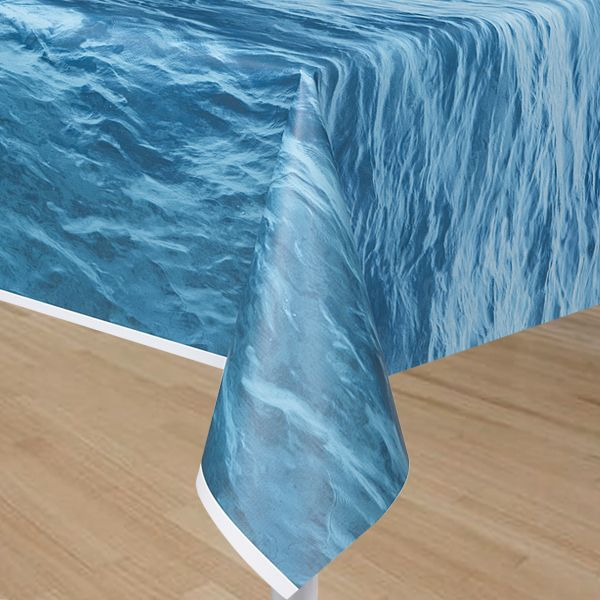 Ocean Wave Table Cover At Birthday Direct Party Table Cloth Plastic Table Covers Table Covers