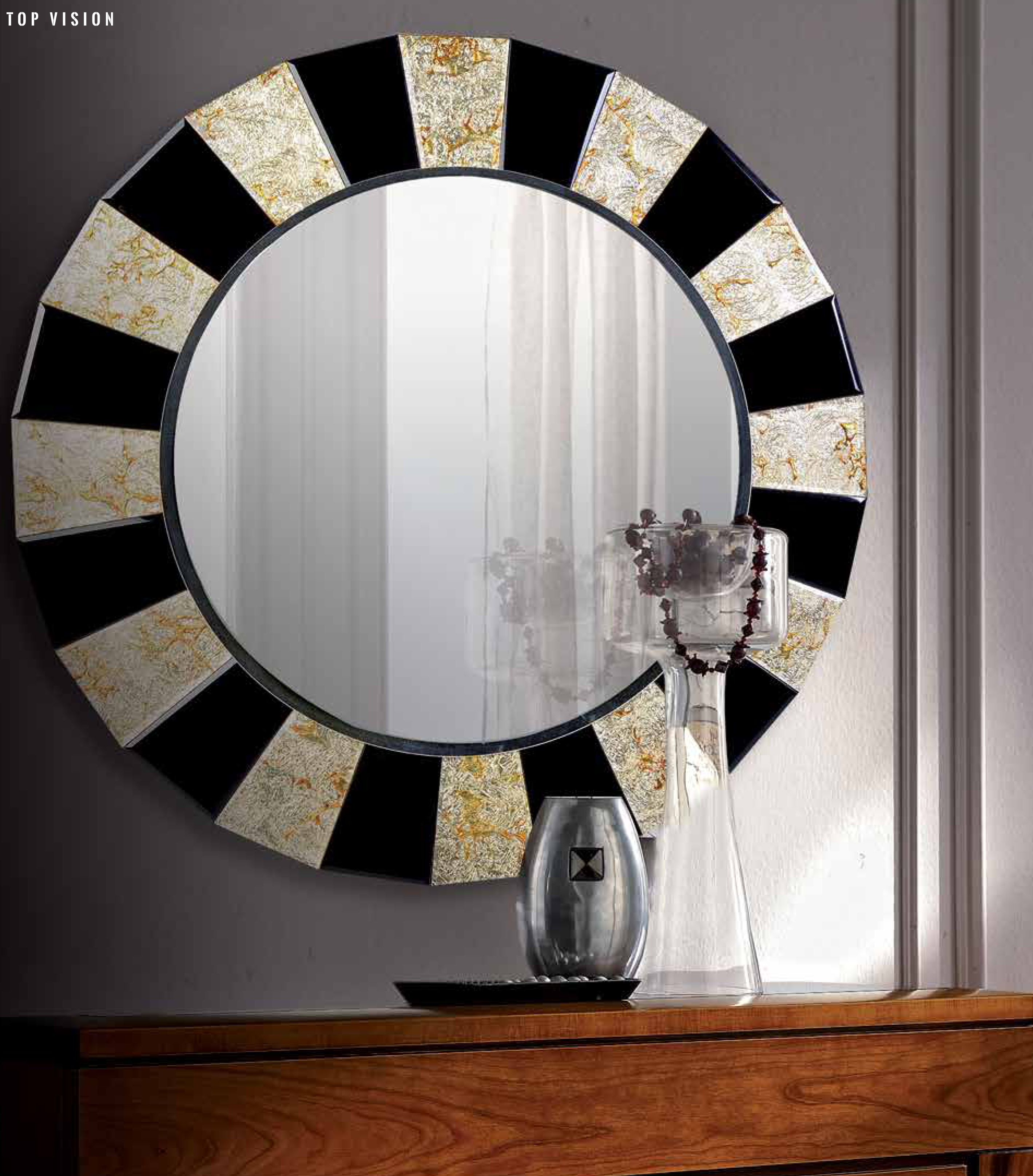 Espejo Redondo Espejo Moderno Espejo Circular Bicolor Espejo  # Muebles Giner Y Colomer