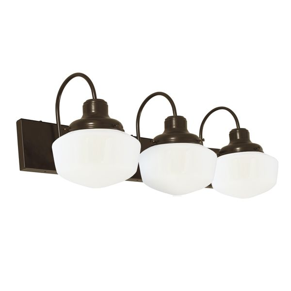Perfect Graduate 3 Light Schoolhouse Vanity Light | Bathroom Mirror Lighting By  BarnLightElectric.com