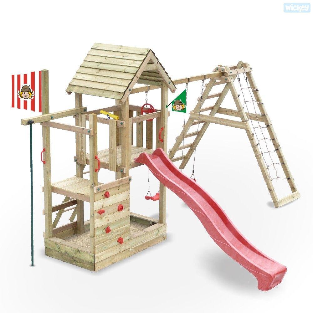 Kinderspielturm Fire Station mit Sandkasten und Rutsche, Spielturm ...