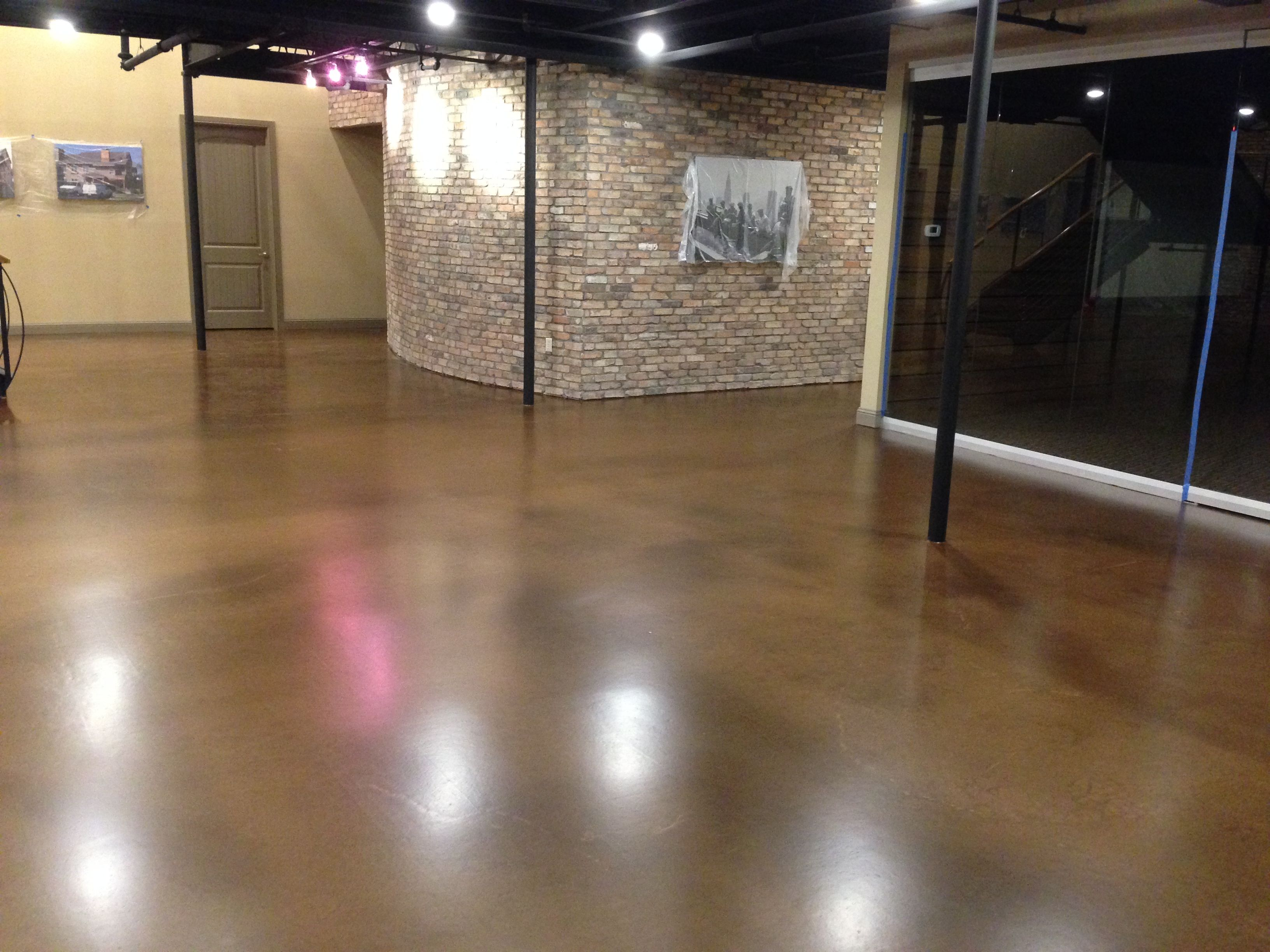 Commercial Entry Floor With Metallic Epoxy This Floor Is With Mojave Sand Lava Flow Color