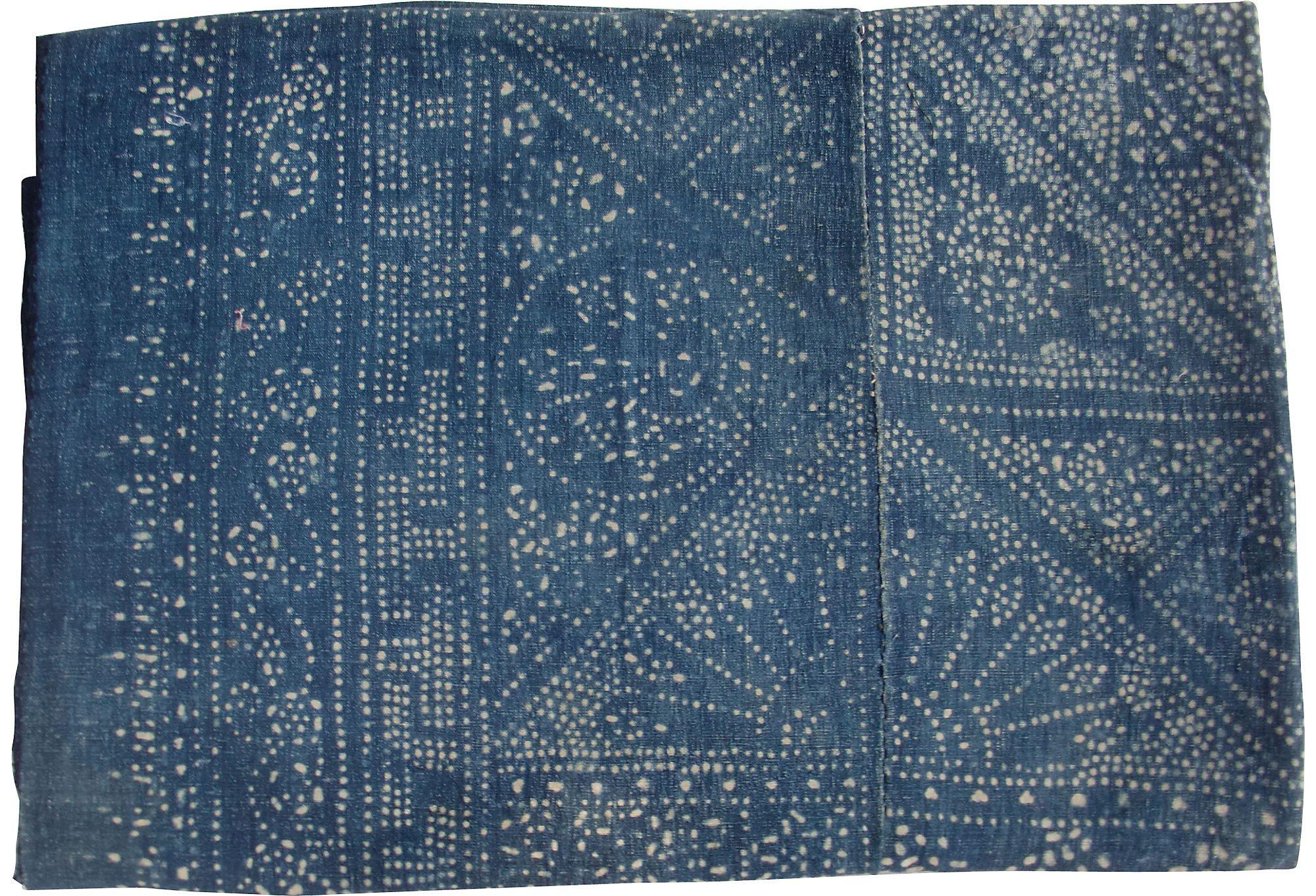 Blue & White Batik Panel