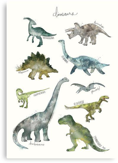 Dinosaurs Canvas Print By Amy Hamilton En 2019 Art De