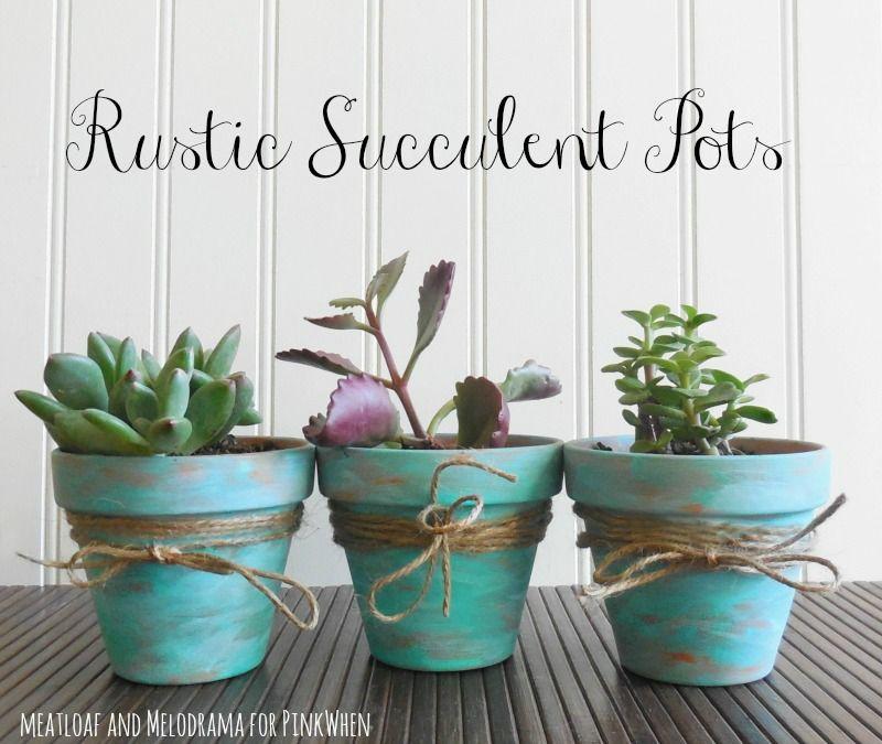 Decorare Vasi Di Terracotta.Diy Rustic Succulent Pots Diy And Tricks Pinterest Vasi Di