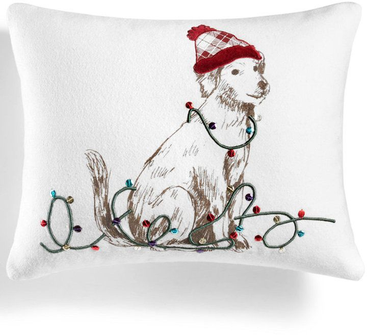 Martha Stewart Collection Pup In Plaid 40 X 40 Decorative Pillow Interesting Martha Stewart Collection Bedding Dogs Decorative Pillows