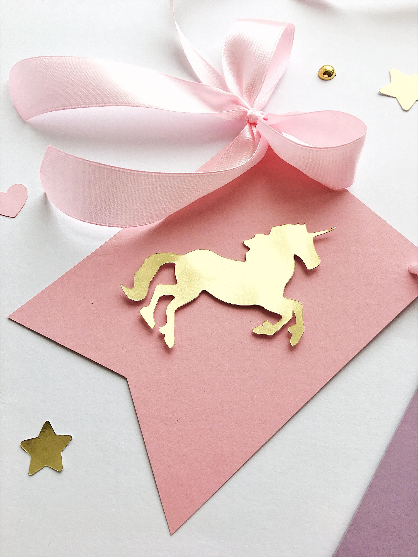 Unicorn Birthday Banner Unicorn Girl 1st Birthday Decorations ...