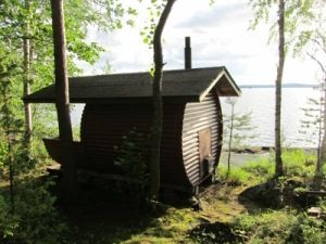 A 'Barrel sauna' - tynnyrisauna