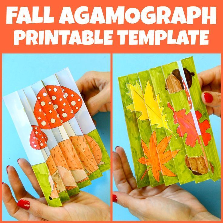Photo of Print out our autumn agamograph template and let children … – DIY ideas