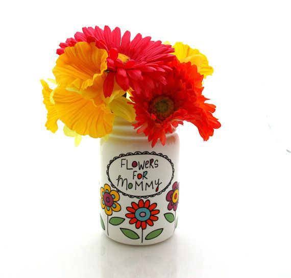 Mother S Day Vase Flowers For Mommy Mason Jar Gift Mom Her Gifts Under 20 New Baby Shower