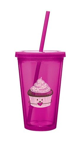 Natural Luxe - vessel drinkware - cupcake reusable to go cup $7