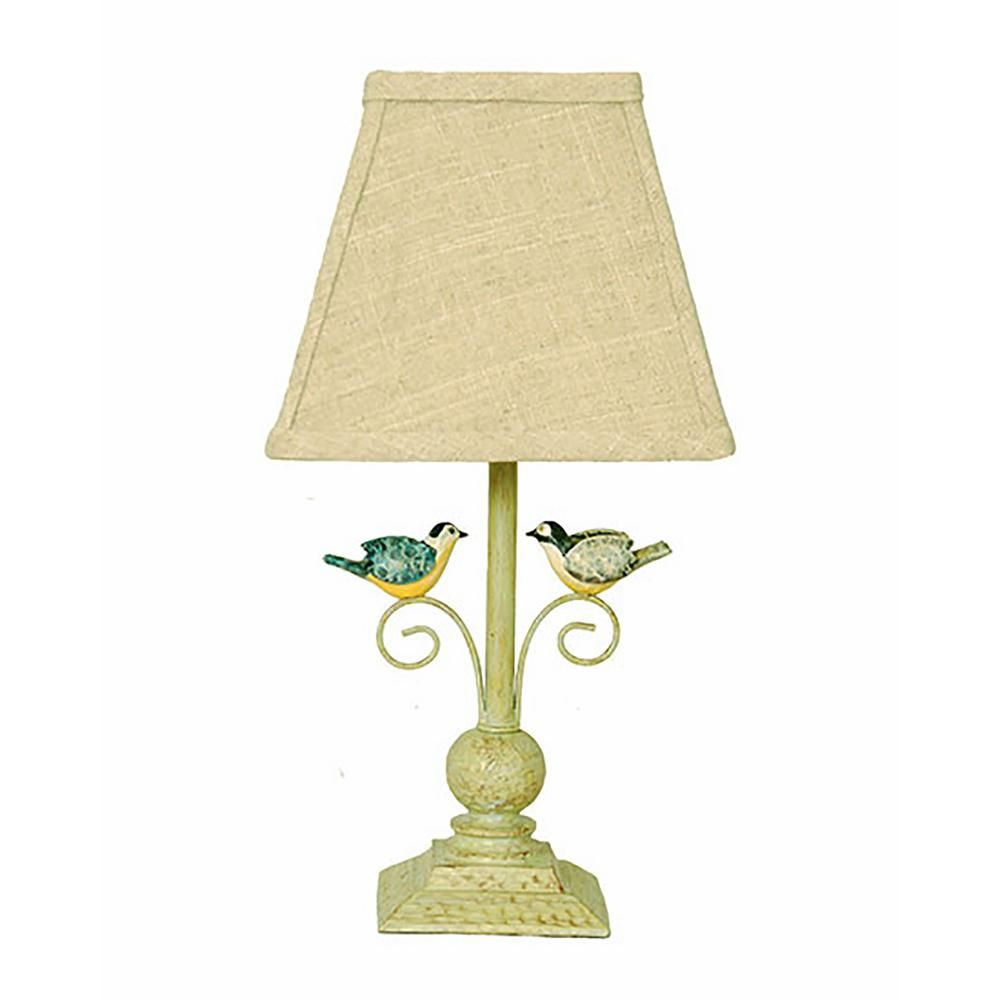 Homestyle 13 In Light Green Novelty Lamp Living Room